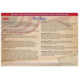 Smart Poly® Double-Sided Learning Mat, Constitution/Bill of Rights