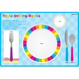 Place Setting Table Basic, PosterMat Pals®, 12 x 17.25 Smart Poly®, Single Sided