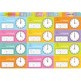 Smart Poly® PosterMat Pals™, Telling Time Basic