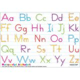 Traditional Manuscript Alphabet, PosterMat Pals®, 12 x 17.25 Smart Poly®, Single Sided