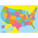 Smart Poly® PosterMat Pals™ Space Saver, US Map