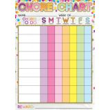 Smart Poly® PosterMat Pals™ Space Saver, Chores Confetti Style