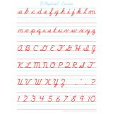 Smart Poly® PosterMat Pals™ Space Saver, D'Nealian Cursive