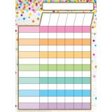 Smart Poly® PosterMat Pals™ Space Saver, Incentive Chart Confetti Style