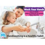 PosterMat Pals™, Space Savers, 13 x 9.5, Smart Poly®, Wash Hands, Hygiene