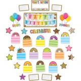 Smart Poly®, Mini Bulletin Board Set Birthday Donutfetti Design 33 pieces