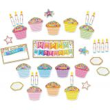 Smart Poly®, Mini Bulletin Board Set Birthday Confetti Design 33 pieces