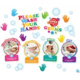 Smart Poly®, Mini Bulletin Board Set, Healthy Bubbles Washing Your Hands Set, 28 pieces