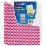 Avery® Big Tab™ Pocket Insertable Plastic Dividers, 8-Tab Set