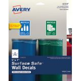 Avery® Surface Safe® Wall Decals, Removable Adhesive, 5 x 7, Water & Chemical Resistant, 6 Labels