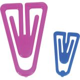 PlastiKlips® Paper Clips, Assorted Sizes, Pack of 315, Assorted Colors