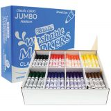 BAZIC® Washable Markers, Jumbo Classroom Pack, 200 Count, 8 colors