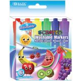 BAZIC® Washable Markers, Scented, 6 colors