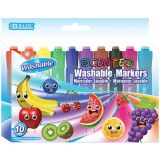 BAZIC® Washable Markers, Scented, 10 colors