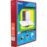 BAZIC® 3-Ring View Binder with 2 Pockets, 1, Red