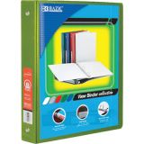 BAZIC® 3-Ring View Binder with 2 Pockets, 1, Lime Geen