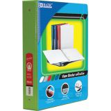 BAZIC® 3-Ring View Binder with 2 Pockets, 1.5, Lime Geen