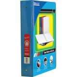 BAZIC® 3-Ring View Binder with 2 Pockets, 1.5, Cyan