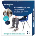 Bouncyband® Portable Wiggle Seat Sensory Cushion, Blue