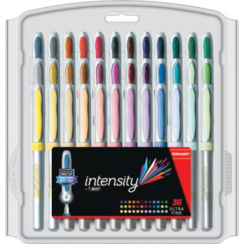 Bic Intensity Permanent Markers 36 Count Ultrafine Point