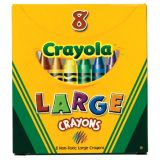 Crayola® Large-Size Crayons, 8 colors, Tuck Box