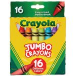 Crayola® Jumbo Crayons, 16 color set