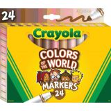 Crayola® Colors of the World Markers, 24 colors