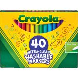Crayola® Washable Fine Line Markers, 40 colors