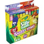 Crayola® Silly Scents™ Sweet & Stinky Washable Markers, Broad Line, 20 colors/scents