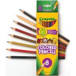 Crayola® Multicultural Colored Pencils, 8 colors