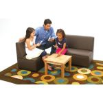 Just Like Home Modern Casual Sofa, Enviro-Child Upholstery, Chocolate