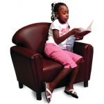 Just Like Home School-Age Chair, Premium Vinyl Upholstery, Port Burgundy