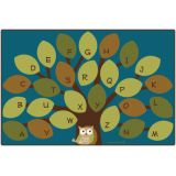Owl-Phabet Tree Rug, 4' x 6' Rectangle