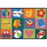 KID$ Value Rugs™, Toddler Fun Squares Rug, 3' x 4'6
