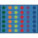 Seating Circles Rug, 10' x 13'6 Rectangle