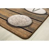 Stones Seating Rug with Alphabet, 6' x 9' Retangle