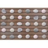 Stones Seating Rug without Alphabet, 8' x 12' Rectangle