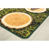 Tree Rounds Seating Rug with Alphabet, 6' x 9' Retangle