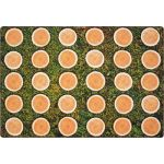 Tree Rounds Seating Rug without Alphabet, 6' x 9' Rectangle