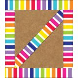 Schoolgirl Style™ Twinkle Twinkle You're a Star! Vertical Rainbow Stripes Straight Border