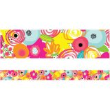 Schoolgirl Style™ Simply Stylish Tropical Floral Straight Borders