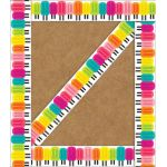 Schoolgirl Style™ Simply Stylish Tropical Tropical Pops Straight Borders