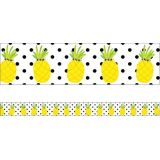 Schoolgirl Style™ Simply Stylish Tropical Pineapples Straight Border