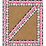 Schoolgirl Style™ Simply Stylish Tropical Flamingos Straight Borders