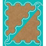 Schoolgirl Style™ Simply Stylish Tropical Turquoise & White Awning Scalloped Borders