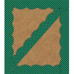Schoolgirl Style™ Industrial Café Green with White Polka Dots Scalloped Borders