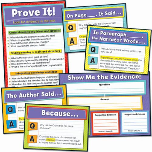 Evidence Based Reading And Writing Bulletin Board Set