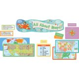 All About Maps Mini Bulletin Board Set