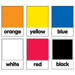 Schoolgirl Style™ Just Teach Color Cards Mini Bulletin Board Set