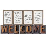 Schoolgirl Style™ Industrial Chic Welcome Bulletin Board Set